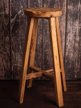 Massiver Teak Holz Bar Hocker Semar aus einer echten Teakholz Wurzel Knaller Preis - Bild vergrößern