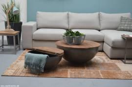 Mango Holz Couchtisch Suzan mit Stauraum 80cm x 35cm - Bild vergrößern