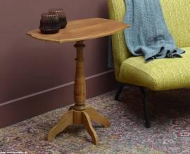 Teak Holz Beistelltisch Knab oval 60cm x 40cm x 64cm - Bild vergrößern