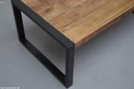 Teak Holz Couchtisch Industrial 60cm - Bild vergrößern
