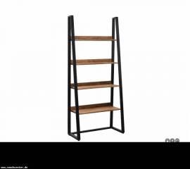 Teak Holz Bücherreagl Industrial 90cm - Bild vergrößern