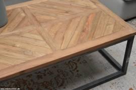 Hochwertiger Teak Holz Couchtisch Lou 110cm x 70cm x 40cm - Bild vergrößern
