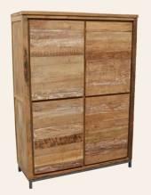 Teak Holz Schrank Boston mit 4 Türen
