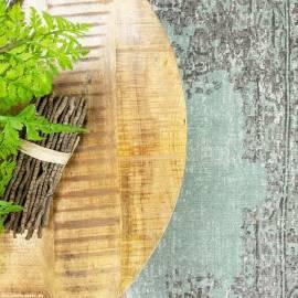 2er Set Couchtische Mangoholz rund Metall Mango Satztische Sofatisch schwarz - Bild vergrößern