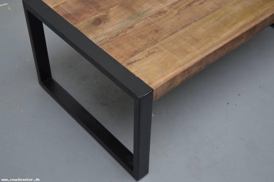 Couch Center Online Versandhandel Teak Holz Couchtisch Industrial