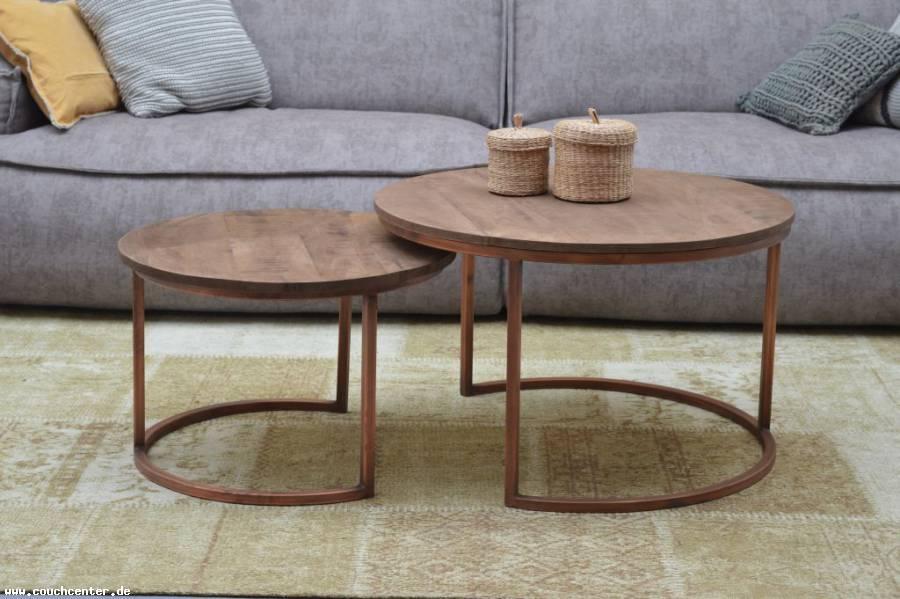 Couch Center Online Versandhandel 2er Set Mango Holz Couchtische